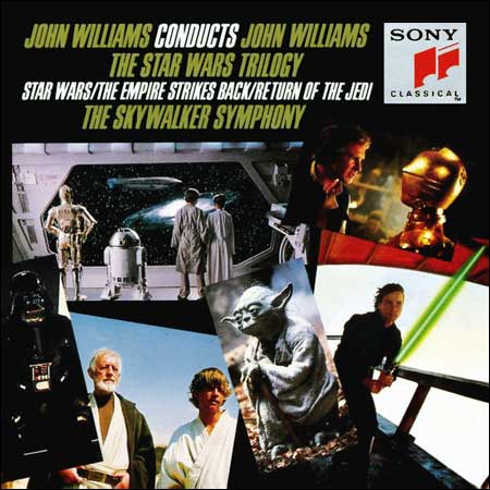 Front cover - The Star Wars Trilogy (by John Williams)