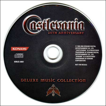 Обложка к альбому - Castlevania 20th Anniversary Deluxe Music Collection